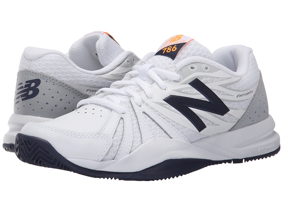 New Balance WC786v2 (White/Blue) Women's Tennis Shoes