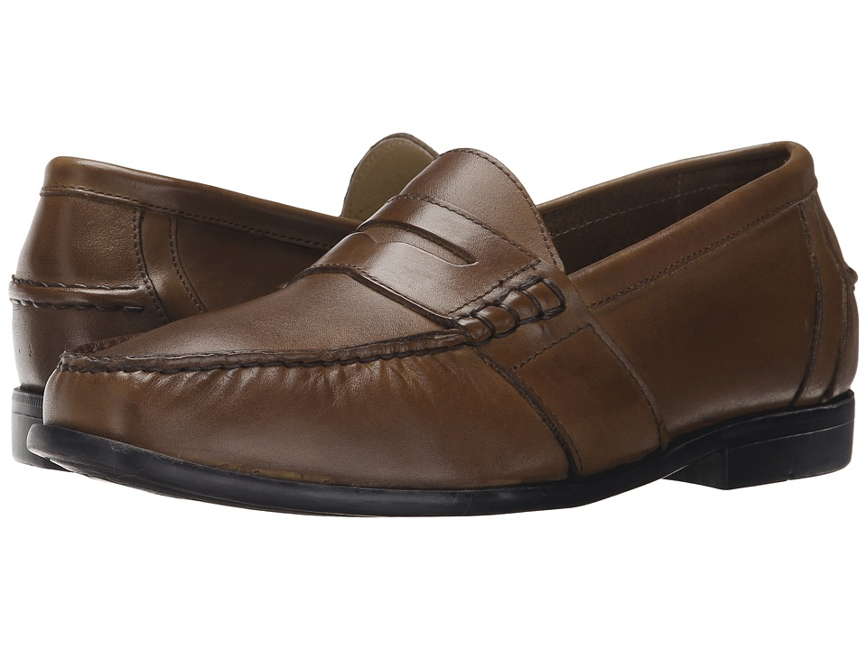 Nunn Bush - Kent Moc Toe Penny Loafer (Saddle Tan) Men
