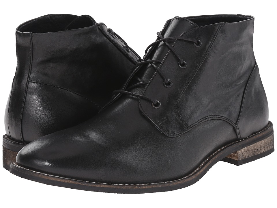 Nunn Bush Hawley Plain Toe Chukka (Black) Men