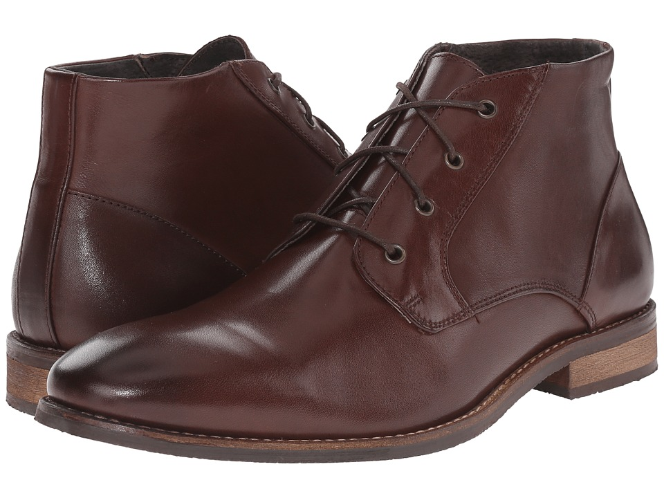 Nunn Bush Hawley Plain Toe Chukka (Brown) Men