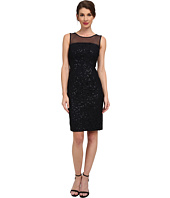 Calvin Klein - Sequin Dress with Illusion Yoke