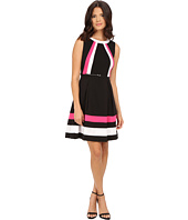 Calvin Klein - Color Block Fit & Flare Dress