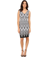 Calvin Klein - V-Neck Printed Sheath Dress