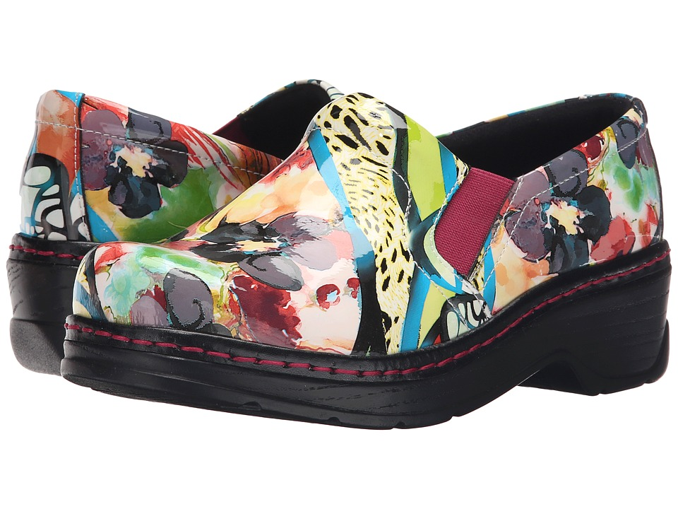 Klogs Footwear Naples (Sangria Flower Patent) Women's Clogs