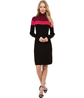 Calvin Klein - Long Sleeve Color Block Sweater Dress