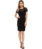 Calvin Klein - Pin Tuck Dress with Illusion Yoke