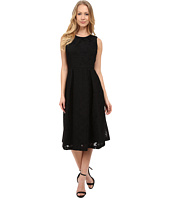 Calvin Klein - Sleeveless Fit & Flare Lace Scuba Dress