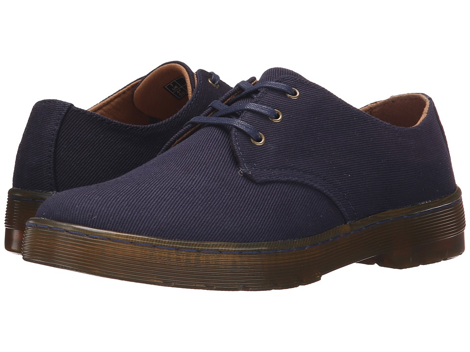 Dr. Martens Gizelle 3 Eye Shoe Navy Overdyed Twill Canvas Womens Lace up casual Shoes