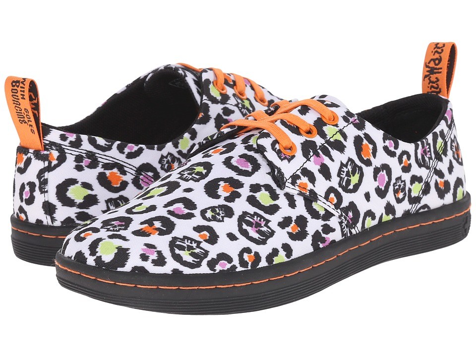 Dr. Martens Aldgate 3 Eye Shoe Skleopard Twill Canvas Womens Lace up casual Shoes