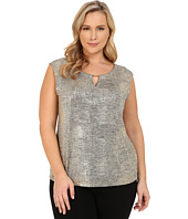 Calvin Klein Plus - Plus Size Sleeveless Metallic Foil Top
