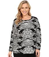 Calvin Klein Plus - Plus Size Zebra Sweater