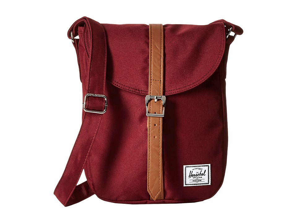 Herschel Supply Co. Kingsgate Windsor Wine/Tan Synthetic Leather Backpack Bags