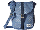 Herschel Supply Co. Kingsgate (Limoges Crosshatch/White Polka Dot/Navy Synthetic Leather)