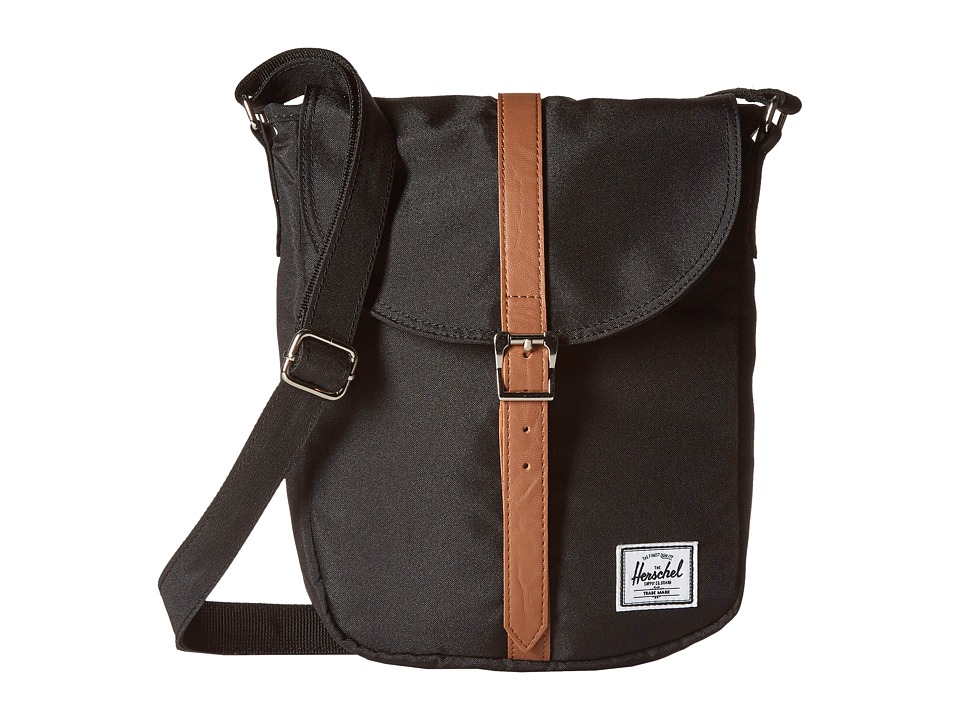 Herschel Supply Co. Kingsgate Black/Tan Synthetic Leather Backpack Bags