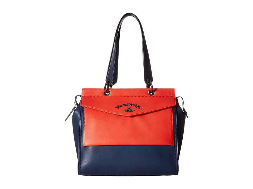 Vivienne Westwood - Braccialini Zoomania Bags Shopping (Navy) Satchel Handbags
