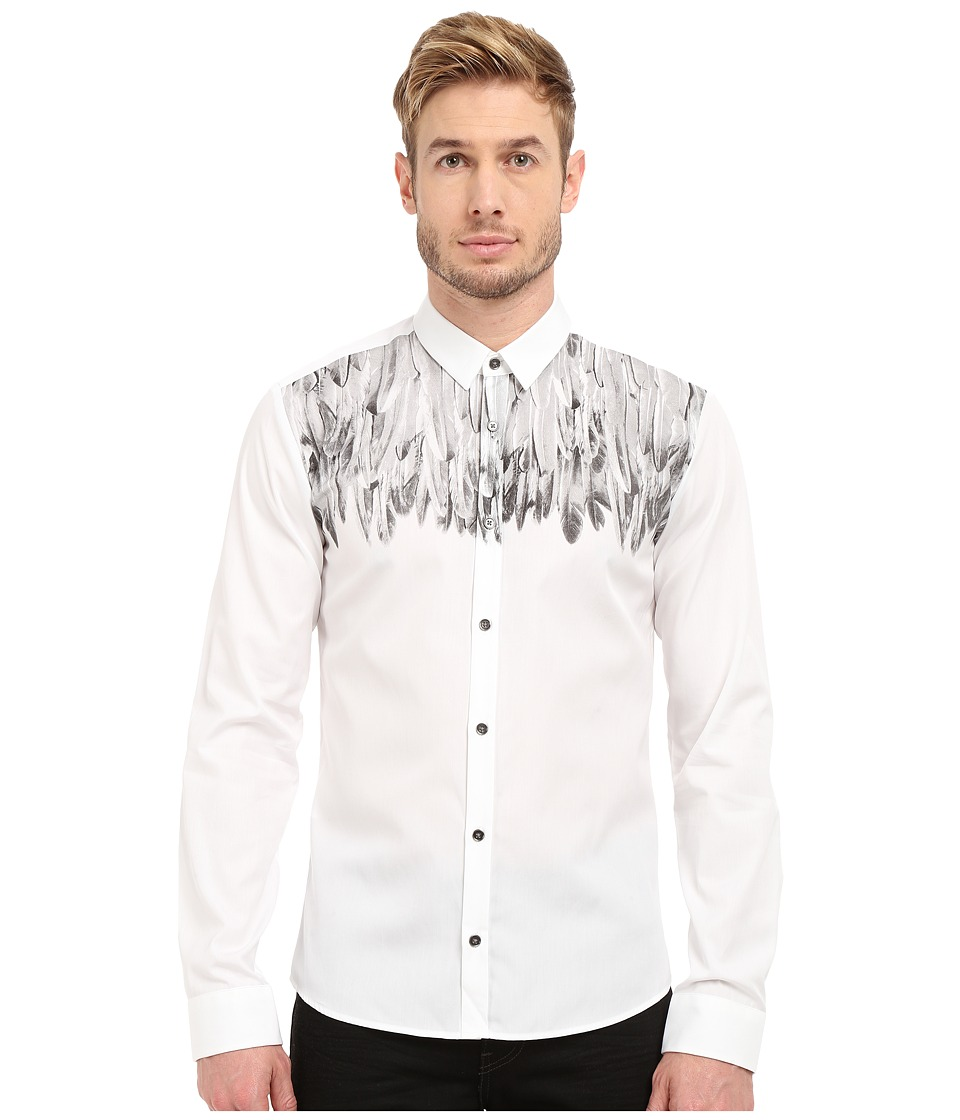 HUGO Ero3 10186520 01 Open White Mens Long Sleeve Button Up