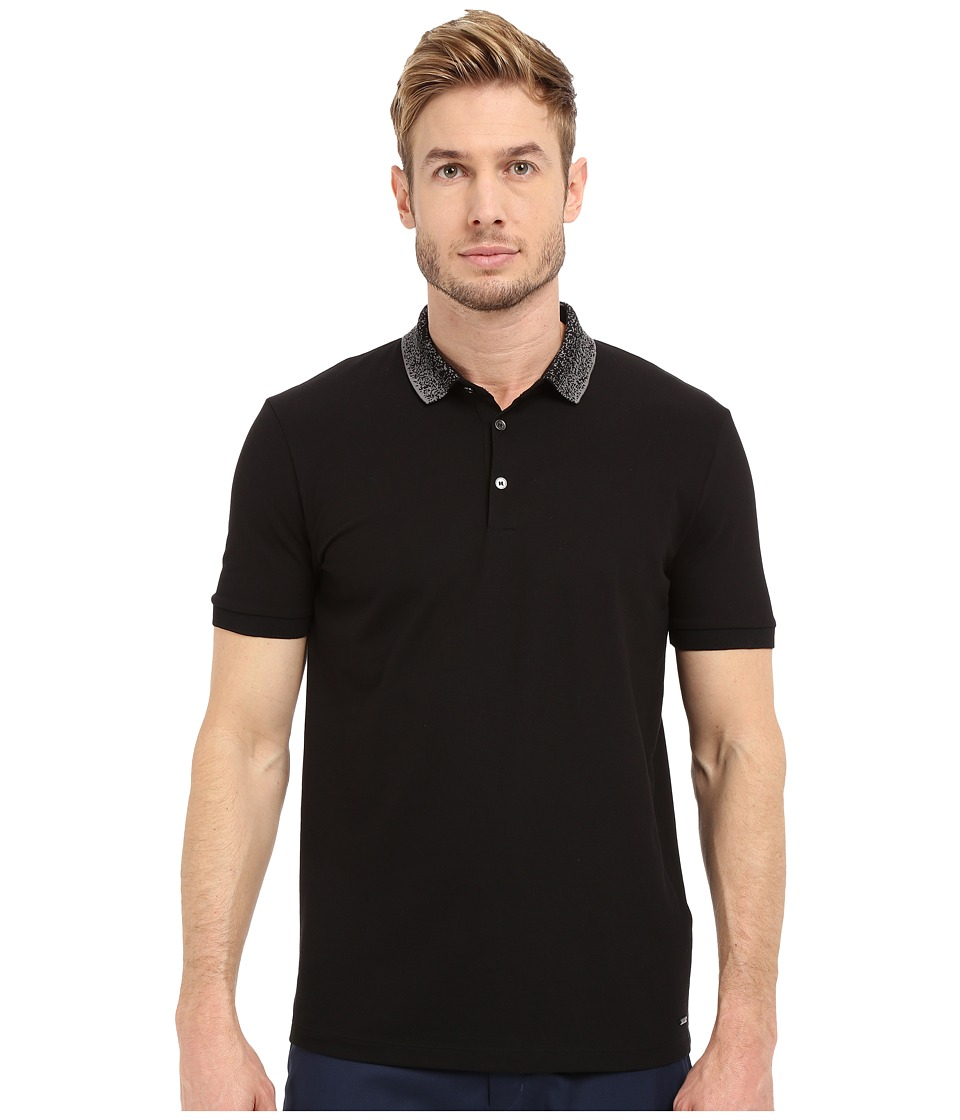 HUGO Dasirius 10100312 01 Black Mens Short Sleeve Pullover