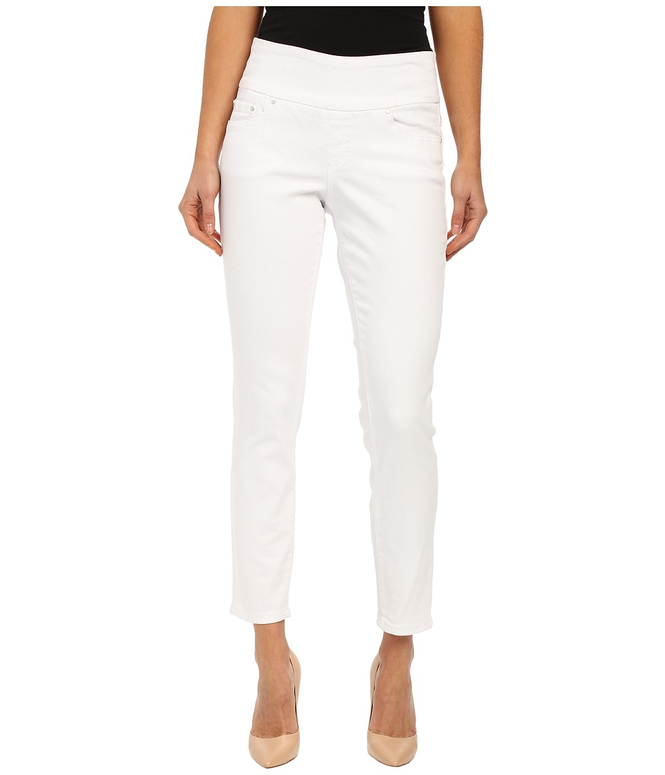 Jag Jeans Amelia Pull On Slim Ankle in White Denim White Womens Jeans