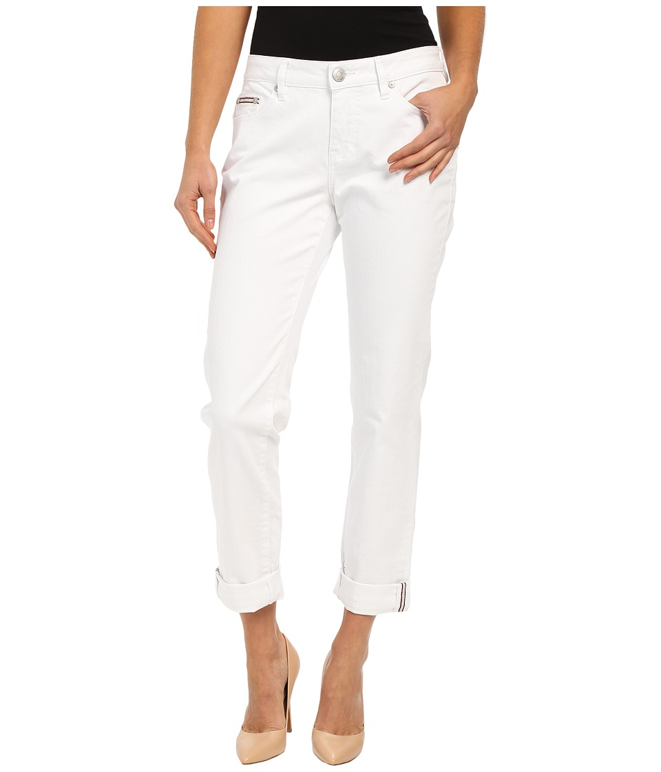 Jag Jeans Henry Relaxed Boyfriend in White Denim White Womens Jeans