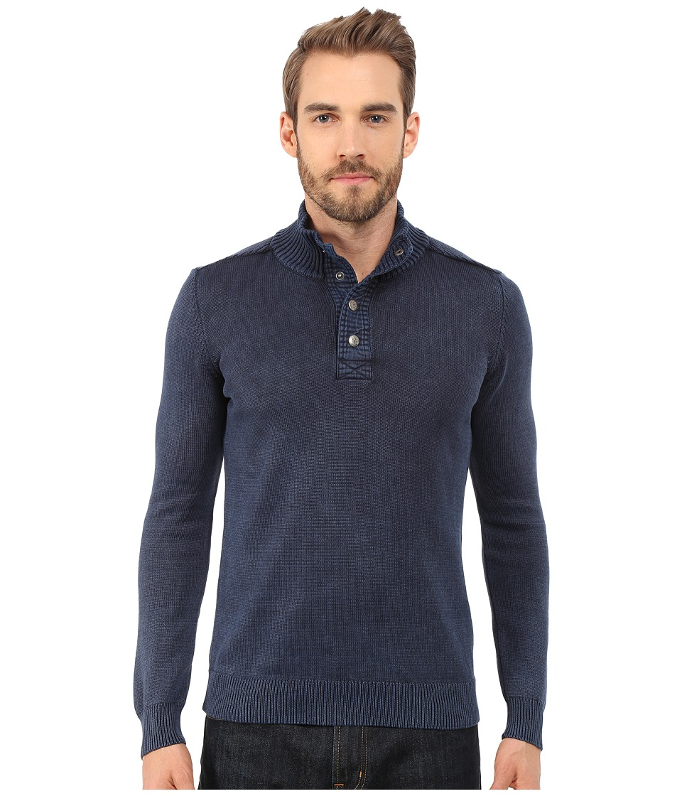 Mavi Jeans Buttoned High Neck Sweater Total Eclipse Mens Sweater