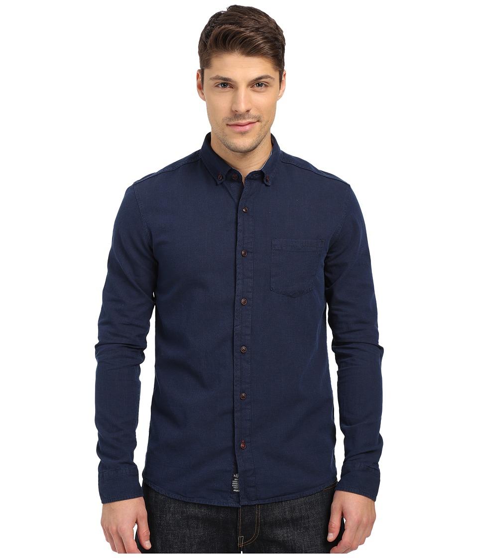 Mavi Jeans Button Down Dark Indigo Mens Long Sleeve Button Up