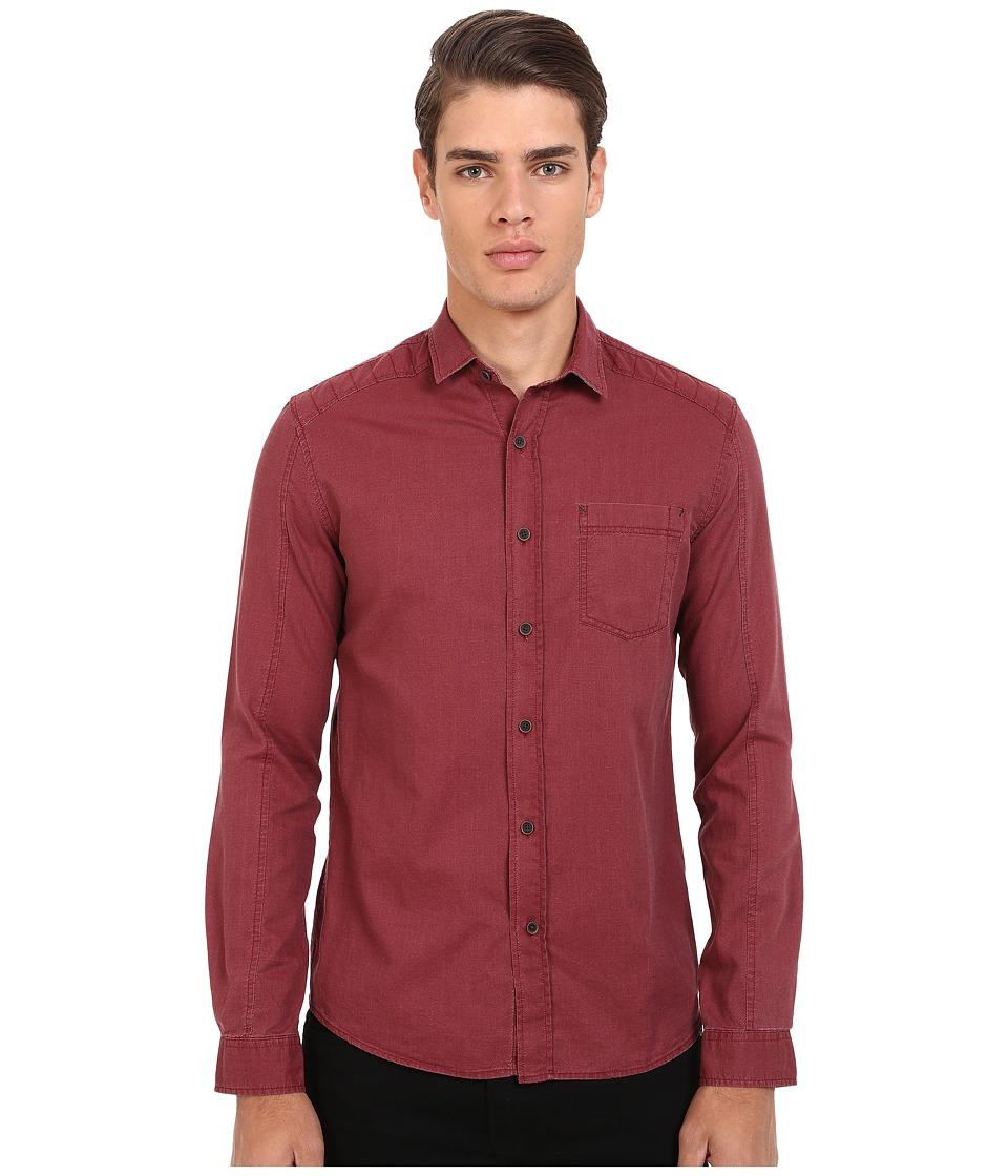 Mavi Jeans Button Down Shirt Burnt Red Mens Long Sleeve Button Up