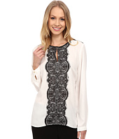 Vince Camuto - Long Sleeve Blouse w/ Front Lace Trim