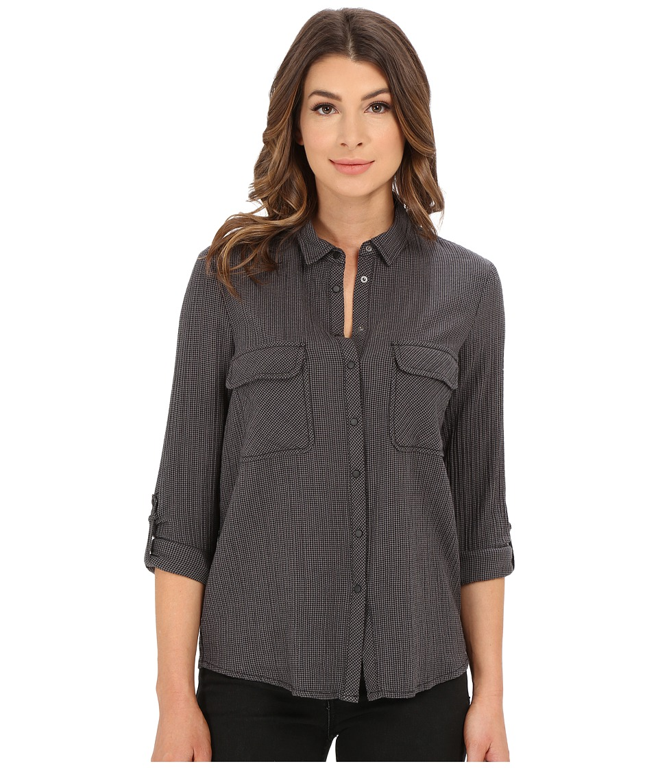 Mavi Jeans Button Down Shirt with Check Pockets Griffin Check Womens Long Sleeve Button Up