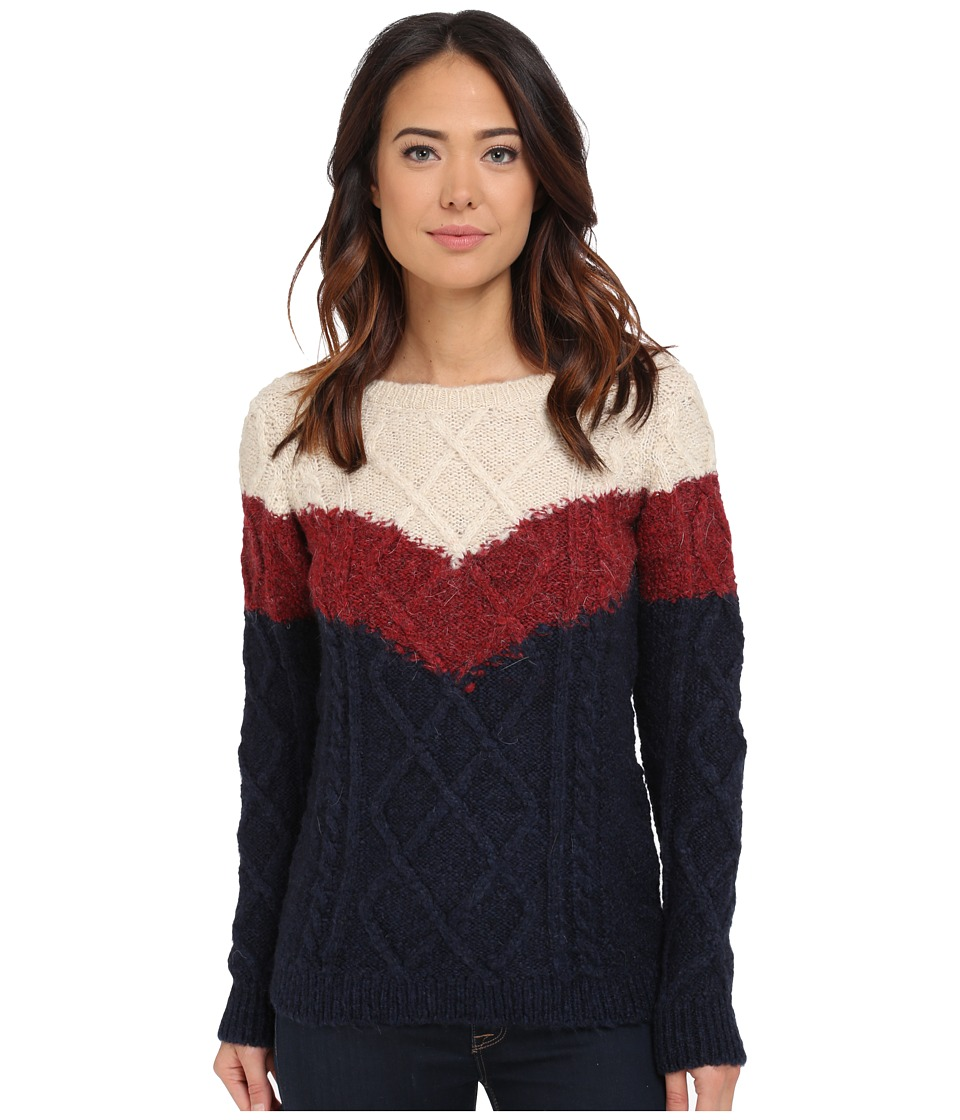 Mavi Jeans 3 Color Blocking Detailed Sweater Oatmeal Melange Womens Sweater