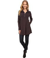 Mod-o-doc - Cotton Modal Spandex Jersey 1/4 Zip Funnel Tunic