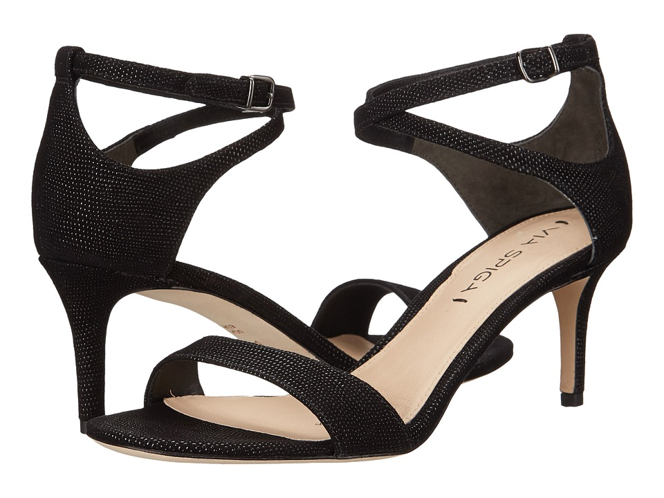 Via Spiga - Leesa (Black Dotted Suede Leather) Women