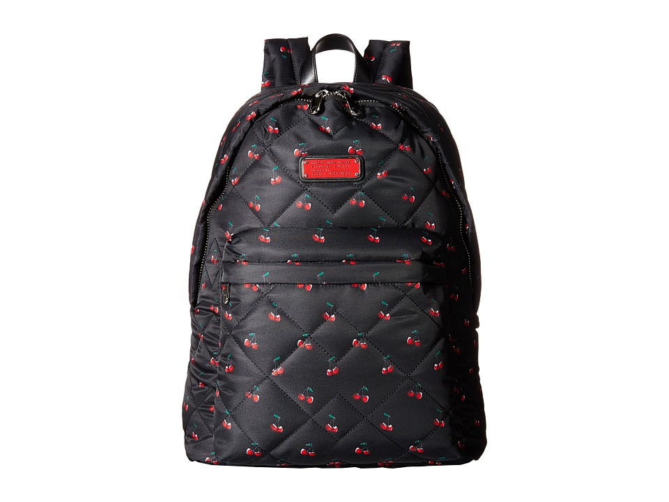 Marc by Marc Jacobs Crosby Quilt Nylon Printed Fruit Backpack Cherry Print Backpack Bags
