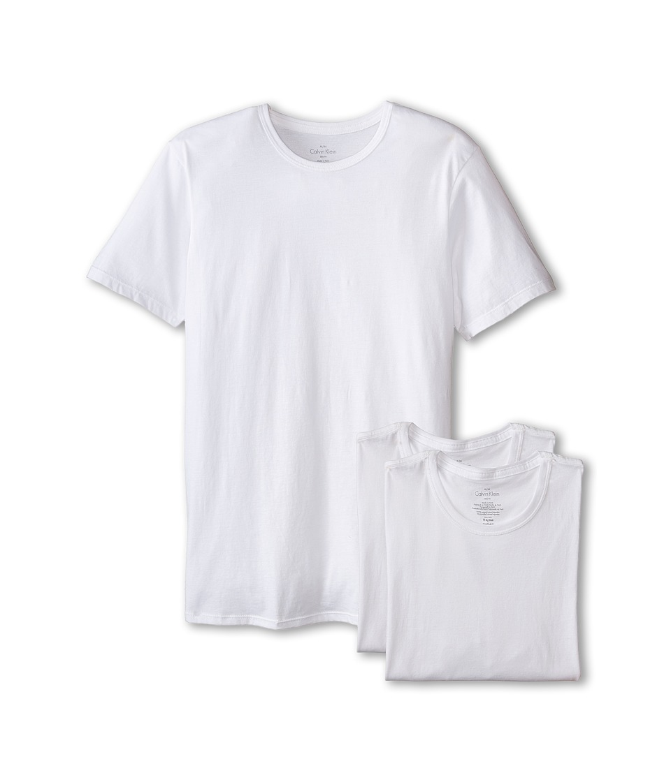 Calvin Klein Underwear - Short Sleeve Cotton Classic Slim Fit Crew (White) Men