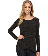 Mod-o-doc - Heather Sweater Crossover Hem Pullover