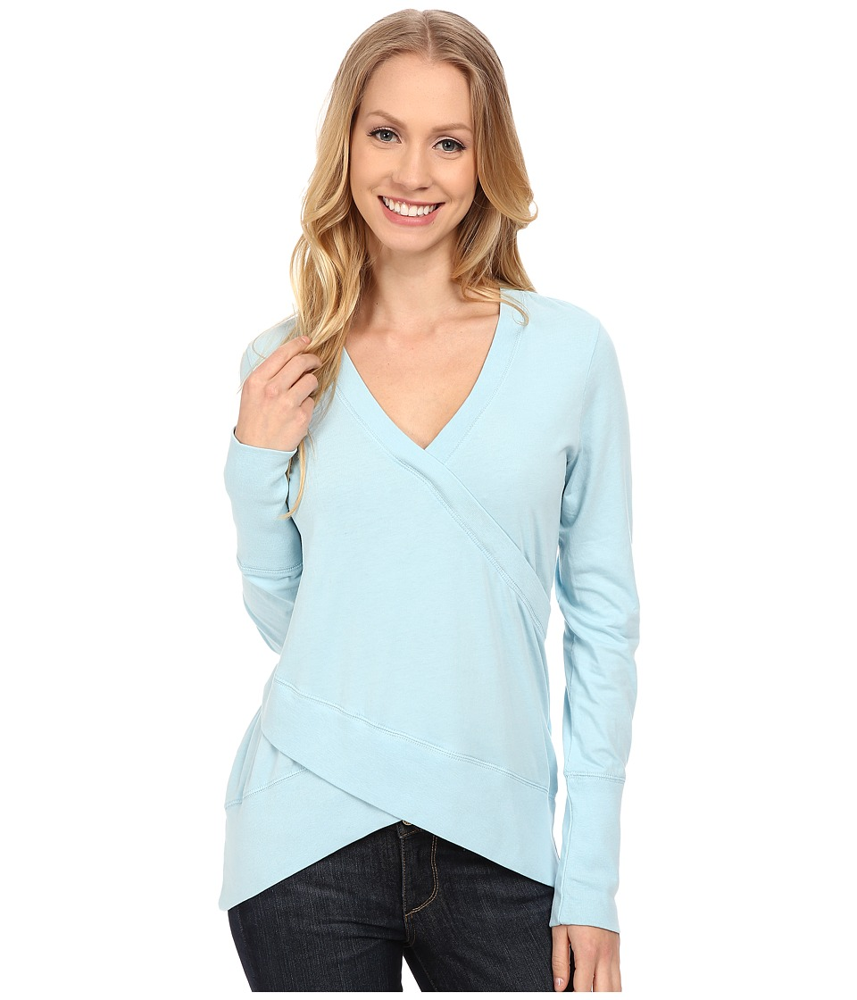 Mod o doc Classic Jersey Faux Wrap Pullover Blue Frost Womens Clothing