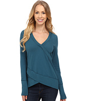 Mod-o-doc - Classic Jersey Faux Wrap Pullover