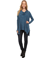 Mod-o-doc - Heather Sweater Long Sleeve Cowl Neck Pullover w/ Contrast Sleeve