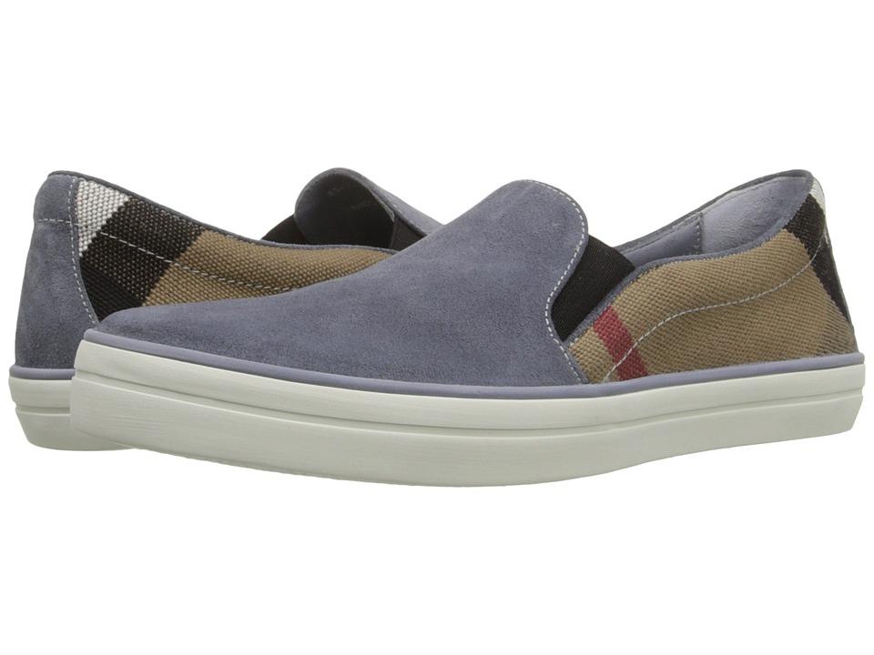 Burberry Gauden Pale Carbon Blue Womens Slip on Shoes