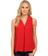 Vince Camuto - Sleeveless V Blouse w/ Inverted Front Pleat