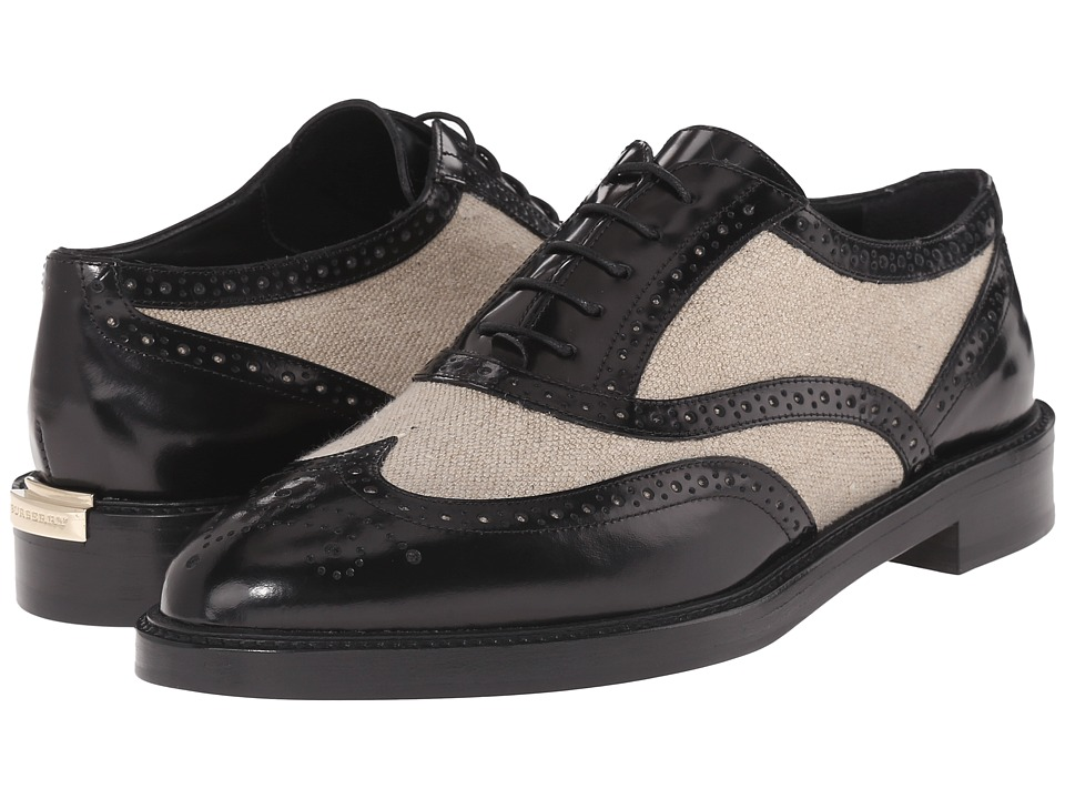 Burberry - Gennie Black Womens Lace up casual Shoes $595.00 AT vintagedancer.com