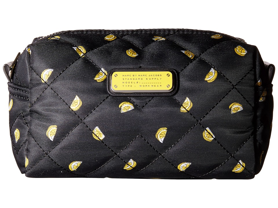 Marc by Marc Jacobs Crosby Quilt Nylon Fruit Cosmetics Large Cosmetic Lemon Print Cosmetic Case