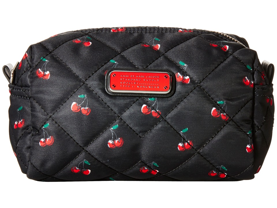 Marc by Marc Jacobs Crosby Quilt Nylon Fruit Cosmetics Large Cosmetic Cherry Print Cosmetic Case