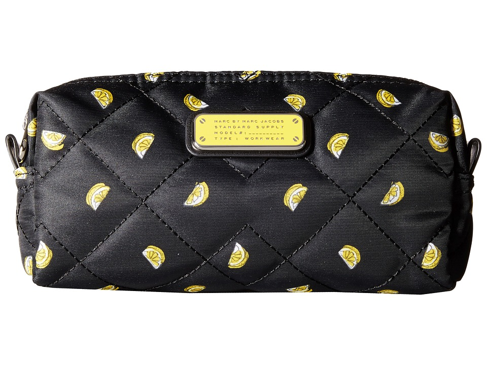 Marc by Marc Jacobs Crosby Quilt Nylon Fruit Cosmetics Narrow Cosmetic Lemon Print Cosmetic Case