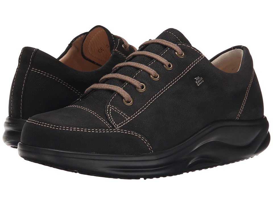 Finn Comfort Ikebukuro 2911 Black Rodeobuk Womens Lace up casual Shoes