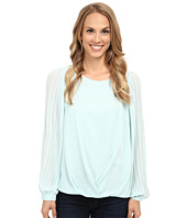 Vince Camuto - Pleated Sleeve Wrap Front Blouse