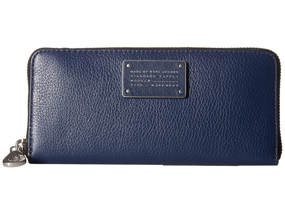 Marc by Marc Jacobs New Too Hot To Handle Small Leather Goods Slim Zip Around Amalfi Coast Wallet