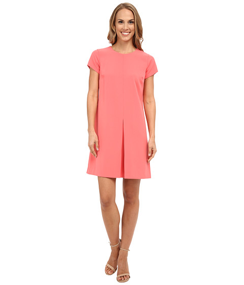 Vince Camuto Short Sleeve Dress w/ Invert Front Pleat
