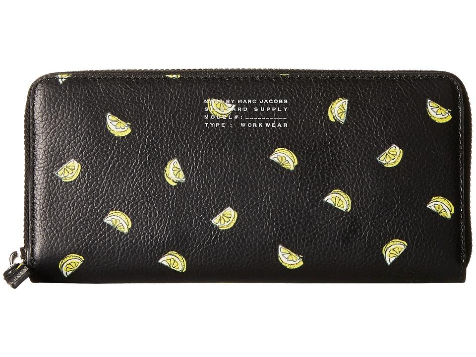 Marc by Marc Jacobs Fruit Slim Zip Around Lemon Print Handbags