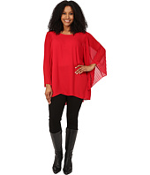 Vince Camuto Plus - Plus Size Pleated Bell Sleeve High-Low Hem Blouse