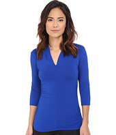Vince Camuto - 3/4 Sleeve Split V-Neck Top